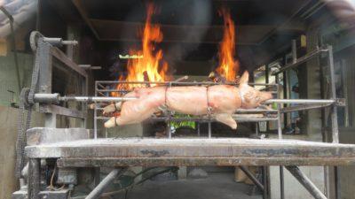 Cochon de lait à la broche - Skradin (Croatie)
