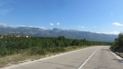 Sur la route entre Skradin et Zagreb - Croatie