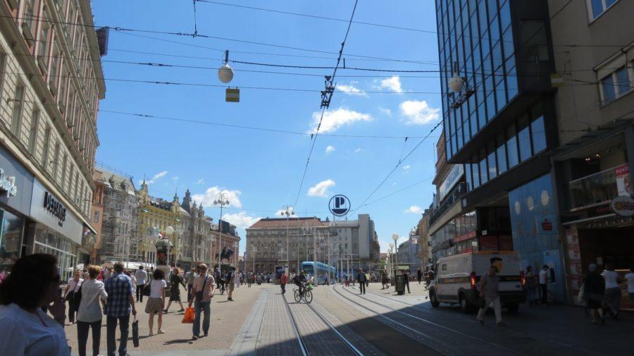 Vue de la place Bana Josipa Jelacica - Zagreb