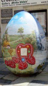 Oeuf de Pâques dans Ulica Tkalciceva - Zagreb