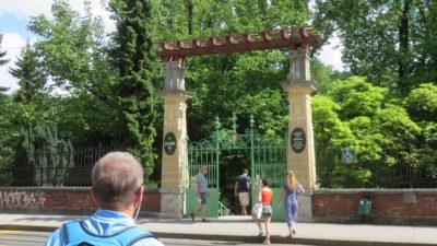 L'entrée du jardin botanique - Zagreb
