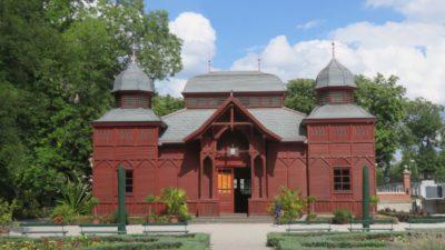 Le pavillon rouge du jardin botanique - Zagreb