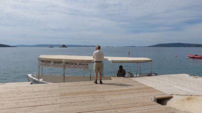 Départ pour Trogir depuis la plage du camping deBelvédère de Seget Vranjica