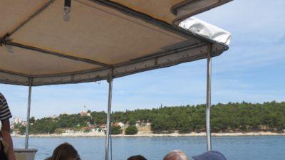 A bord du bateau taxi en direction de Trogir