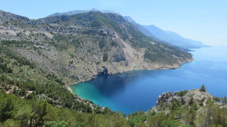 Vue magnifique entre Pisak et Brela - Croatie