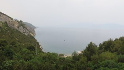 Vue depuis Zaostrog - Croatie