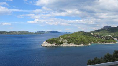 Vue entre Orasac et Dubrovnik - Croatie