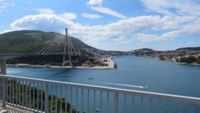 Le pont à haubans sur la baie de Gruz - Croatie