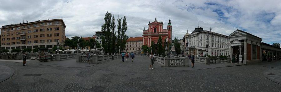 Panorama du centre ville de Ljubljana - Slovénie