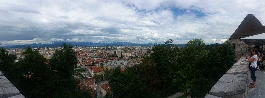 Vue sur Ljubljana depuis le château - Slovénie