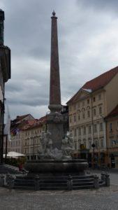 Colonne sur la place de la mairie - Ljubljana