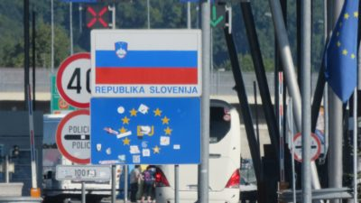 La frontière slovène depuis la Croatie
