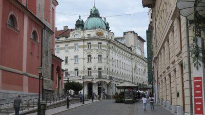 Les beaux immeubles du centre ville de Ljubljana