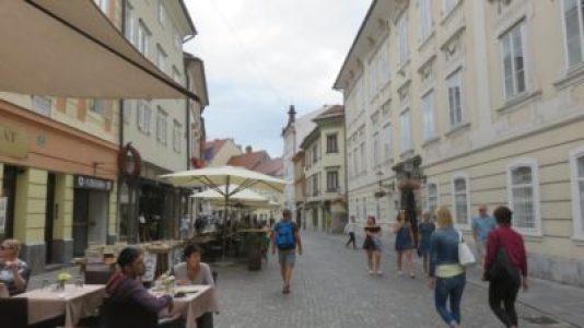 Dans les rues pavées de Ljubljana - Slovénie