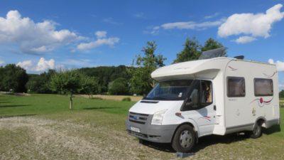 Sur l'aire de camping-car de Zusmarshausen - Allemagne