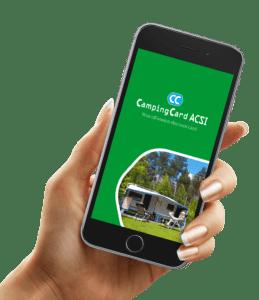 Application smartphone Campingcard ACSI