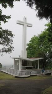 La grande Croix au sommet du Piton des Songes (Réunion)