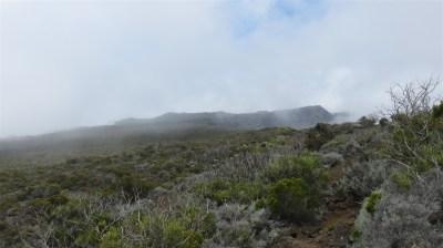 Le Morne Langevin dans la brume