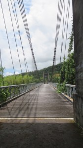 Le pont suspendu de la Rivière de l'Est - Réunion