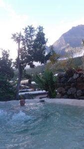 Détente dans notre spa de Cilaos
