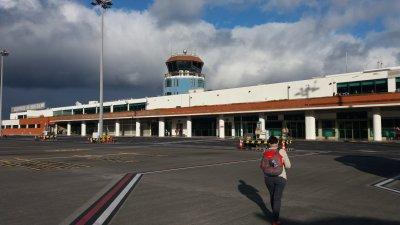 Arrivée à l'aéroport de Madère - Portugal