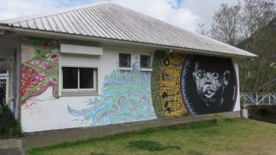 Habitation colorée à Cilaos