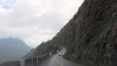 La route Cilaos - îlet à Cordes