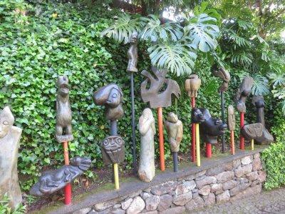 African Passion - sculptures en pierre zimbabwéennes (Jardin Monte Palace - Funchal)