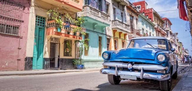 Dessin d'une rue de La Havane - Cuba