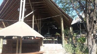 Le restaurant du campsite de Audi Camp - Maun (Botswana)