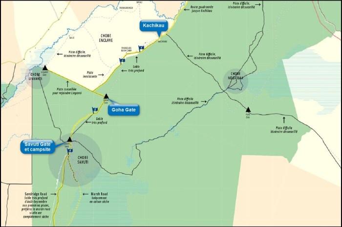 Chobe NP - la route de Savuti depuis Kachikau (Botswana)