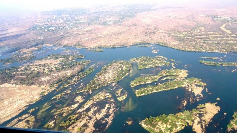 Survol des Victoria Falls en hélicoptère - Le Zambèze (Zimbabwe)
