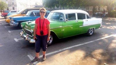Une belle française devant une belle américaine - La Havane (Cuba)