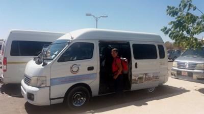 Minibus à l'aéroport de Victoria Falls - Zimbabwe