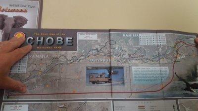 Carte du Chobe NP - Botswana