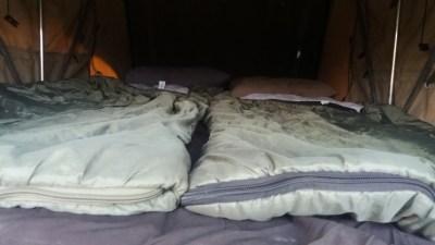 Notre chambre à coucher sur le toit du 4x4 - Botswana