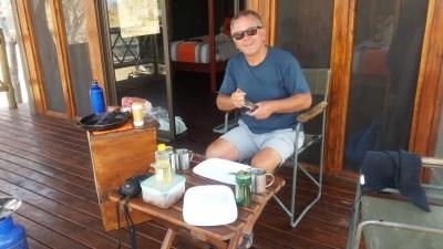 Déjeuner au campsite de Third Bridge - Réserve de Moremi (Botswana)