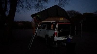 Réveil au campsite de Khumaga - Botswana