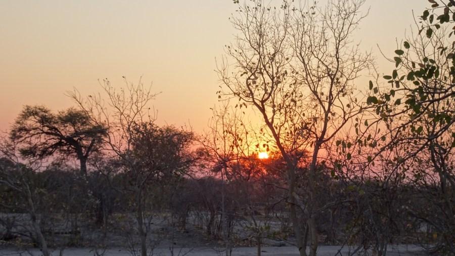 Levée du jour au campsite de Savuti - Botswana