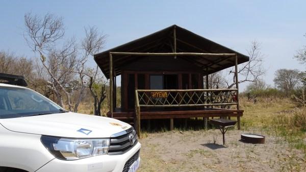 La tente Hyena au campsite de Third Bridge - Botswana