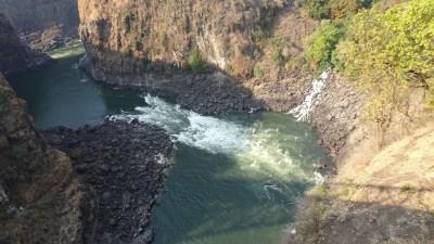 Le Zambèze vu du pont de Victoria Falls - Zimbabwe