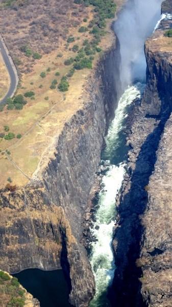 Survol des Victoria Falls en hélicoptère - Zimbabwe
