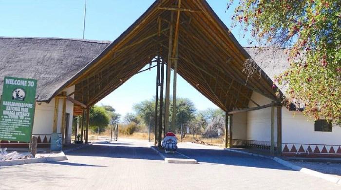 La porte de Khumaga - Makgadikgadi NP (Botswana)