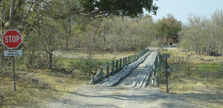 Gué entre Khwai et North Gate (Botswana)