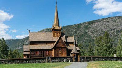 Eglise en bois debout de Lom - Norvège