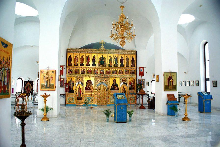 Le choeur de la Cathédrale Orthodoxe Russe Notre-dame de Kazan dans la vieille ville de La Havane - Cuba