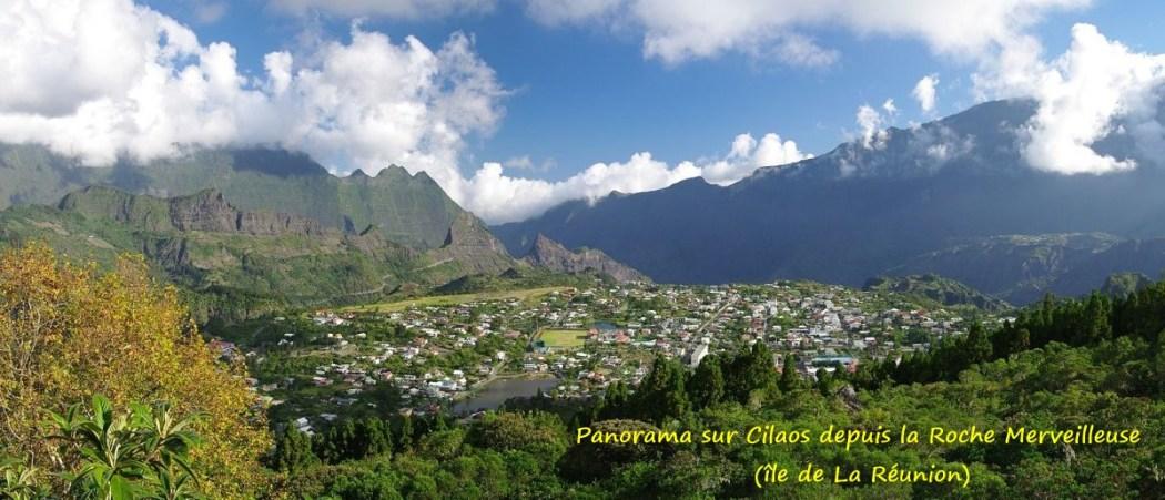 Panorama sur Cilaos depuis la Roche Merveilleuse (île de La Réunion)