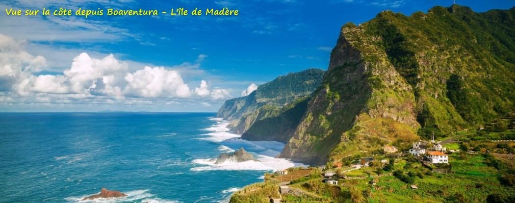 Vue sur la côte depuis Boaventura - L'île de Madère