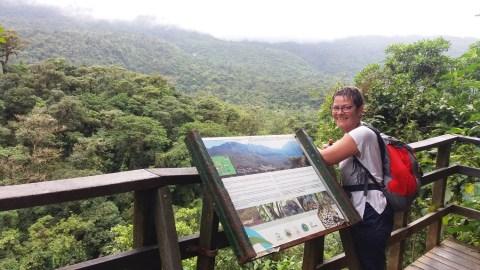 Belvédère dans le parc du volcan Tenorio - Costa Rica