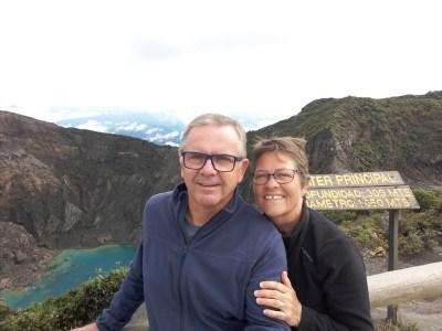 Nous voilà devant le volcan Irazu (3432m) - Costa Rica